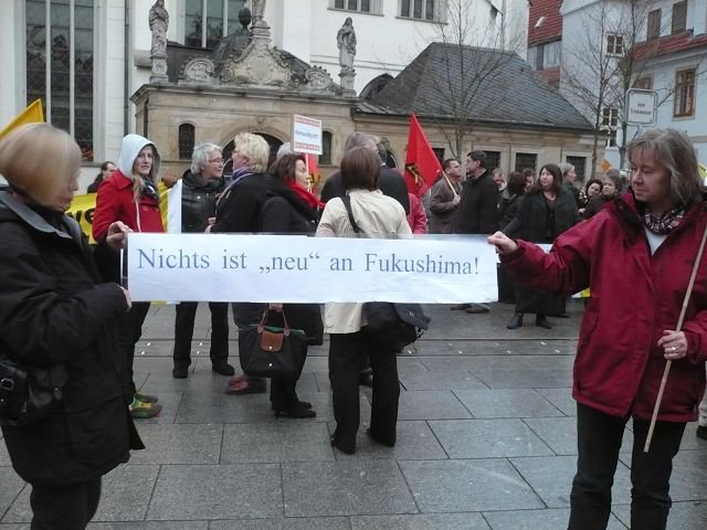14.03.2011 Fukushima Mahnwache in Celle