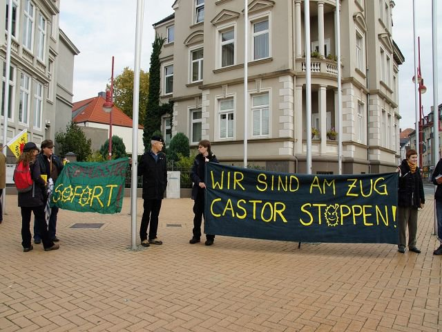 29.10.2011 Castor-Strecken-Aktionstag in Celle
